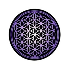 "Flower of Life 3.5"" Button"