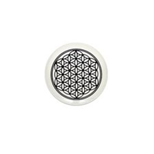Flower of Life in Black Mini Button