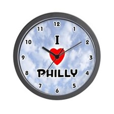 I Love Philly (Black) Valentine Wall Clock