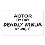 Actor Deadly Ninja Rectangle Decal