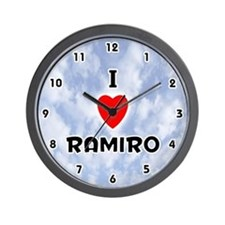 I Love Ramiro (Black) Valentine Wall Clock