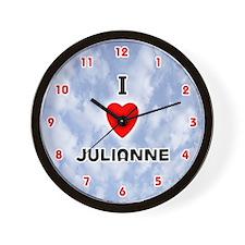 I Love Julianne (Red/Blk) Valentine Wall Clock
