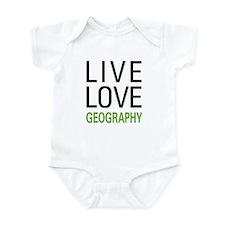 Live Love Geography Infant Bodysuit