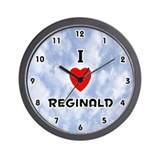 I Love Reginald (Black) Valentine Wall Clock