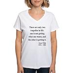 Oscar Wilde 23 Women's V-Neck T-Shirt