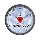 I Love Reynaldo (Black) Valentine Wall Clock