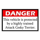 Danger Attack Cesky Terrer Decal