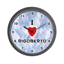 I Love Rigoberto (Black) Valentine Wall Clock