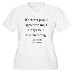 Oscar Wilde 27 Women's Plus Size V-Neck T-Shirt