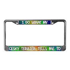 Do what Cesky Terrier License Plate Frame