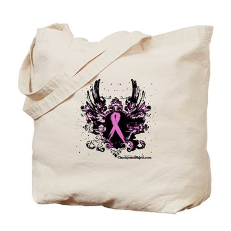 Tough Girl Breast Cancer Tote Bag