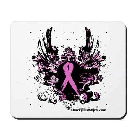 Tough Girl Breast Cancer Mousepad