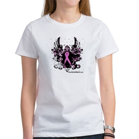 Tough Girl Breast Cancer Women's T-Shirt
