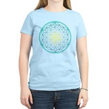 Flower of Life - Aqua T-Shirt