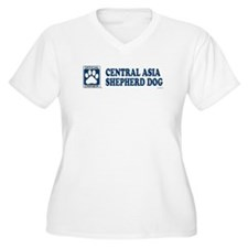 CENTRAL ASIA SHEPHERD DOG Womes Plus-Size V-Neck T