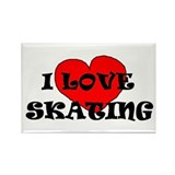 Cool I love rollerskating Rectangle Magnet (100 pack)