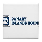 CANARY ISLANDS HOUND Tile Coaster