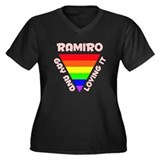 Ramiro Gay Pride (#007) Women's Plus Size V-Neck D