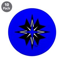 "Tribal Blue 3.5"" Button (10 pack)"