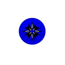 Tribal Blue Mini Button (100 pack)