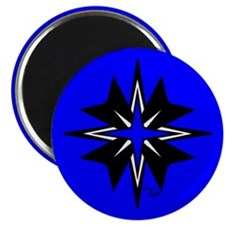 "Tribal Blue 2.25"" Magnet (10 pack)"
