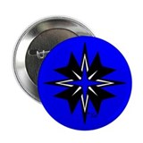 "Tribal Blue 2.25"" Button"