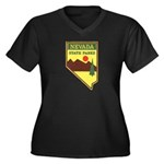 Nevada Ranger Women's Plus Size V-Neck Dark T-Shir