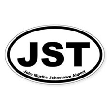 John Murtha Johnstown Airport Oval Decal
