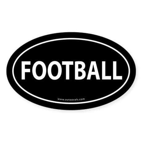 Football Text Auto Decal -Black (Oval)