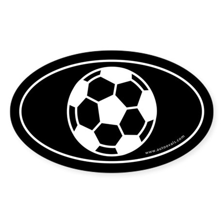 Soccer Ball (Soccer Eye) Auto Decal -Black (Oval)