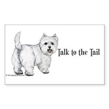 Westie Talk to the Tail Decal