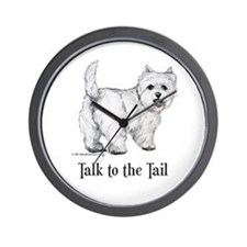 Westie Talk to the Tail Wall Clock