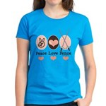 Peace Love Fence Fencing Women's Dark T-Shirt