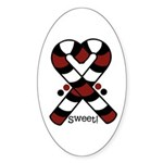 Candycanes Sticker (Oval)