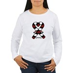 Candycanes Women's Long Sleeve T-Shirt