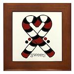 Candycanes Framed Tile