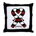 Candycanes Throw Pillow