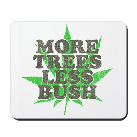 More Trees Less Bush Mousepad