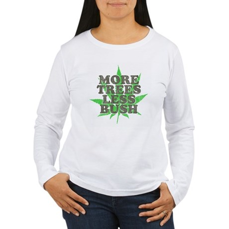 More Trees Less Bush Womens Long Sleeve T-Shirt