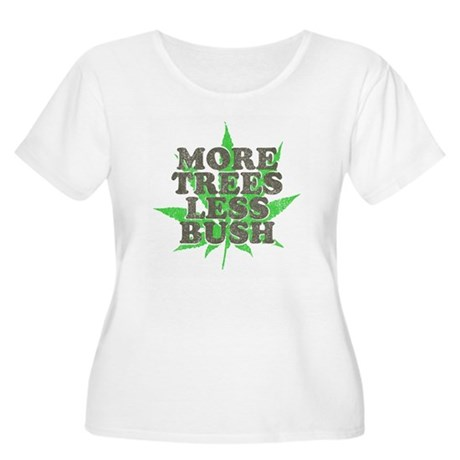 More Trees Less Bush Womens Plus Size Scoop Neck