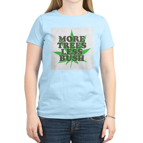 More Trees Less Bush Womens Light T-Shirt