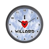 I Love Willard (Black) Valentine Wall Clock