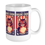 Obey the Maine Coon Cat! USA Large Mug