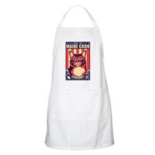 Obey the Maine Coon Cat! USA BBQ Apron