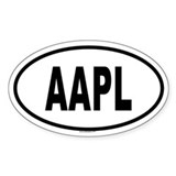 AAPL Oval Decal