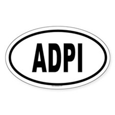 ADPI Oval Decal