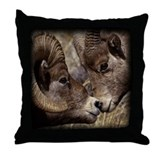 Big Horn Sheep Throw Pillow