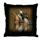 Mallard Ducks Smooth Landing Throw Pillow