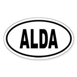 ALDA Oval Decal