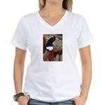 Ringtail Pheasant Women's V-Neck T-Shirt